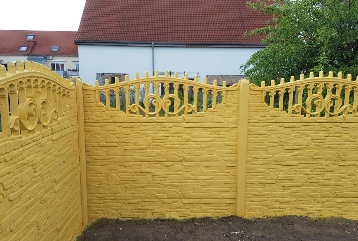 Betonzaun Polen ALMP10 Vorgarten Zaun