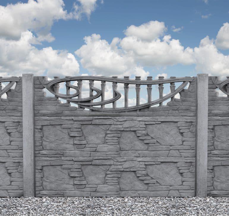 Zaun aus beton ALMD06