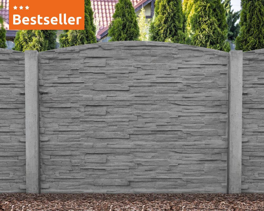Sichtschutzzaun ALMP04 - betonzaun